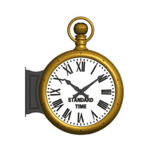 Bracket Clock Two Dial Pocketwatch Rendering