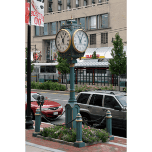 Four Dial Large Howard Post Clock Boston University