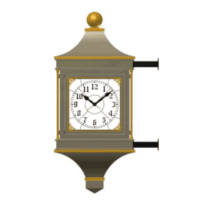Bracket Clock 4 Dial McClintock Bracket Rendering