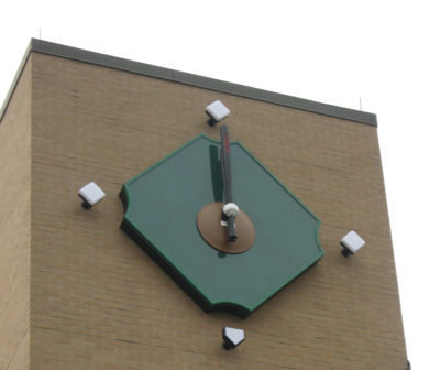 ESPN custom baseball tower clock