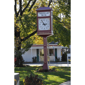 Two Dial O.B. McClintock Post Clock Replica Medfield MA