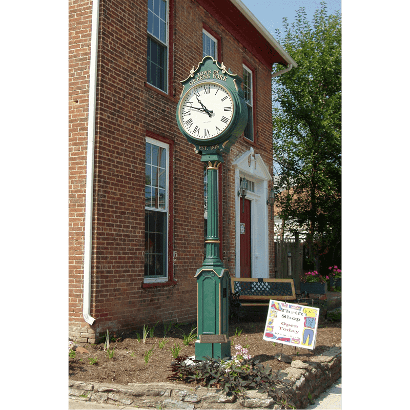 Two Dial Small Howard Street Clock Greens Fork IN