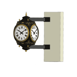 Bracket Clock Four Dial Large Howard Corner Rendering