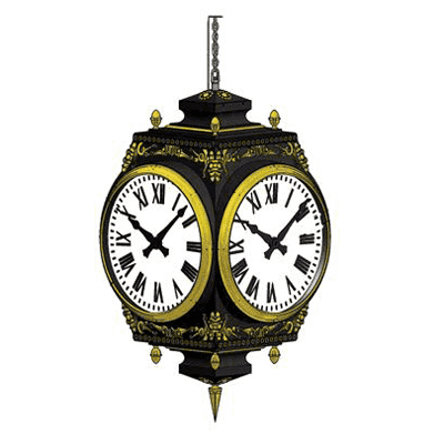 Bracket Clock Large Four Dial Howard Hanging Rendering