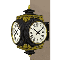 Bracket Clock Small Howard Four Dial Sidewall Rendering