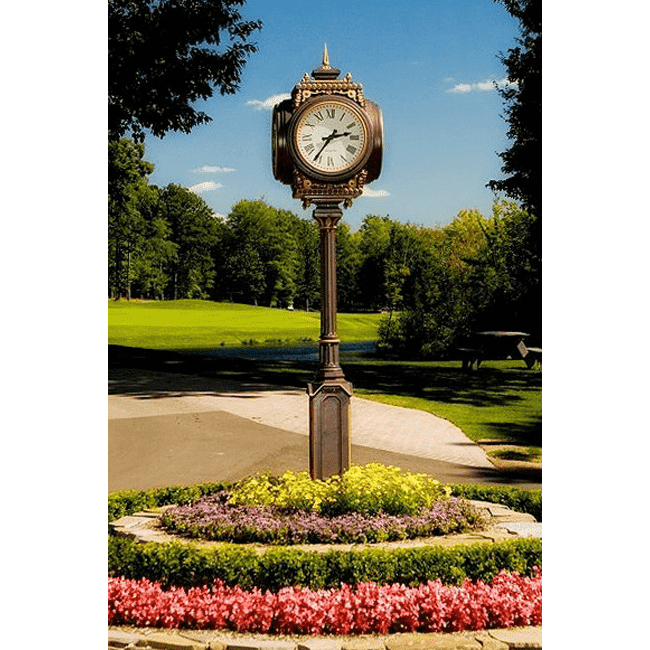 Four Dial Small Howard Replica Street Clock Tullymore Golf Club Stanwood MI