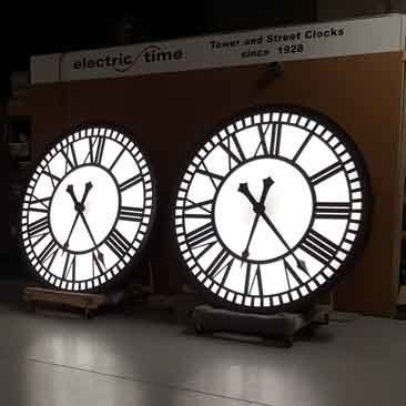 Back Lighted Tower Clocks