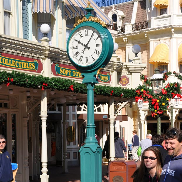 Post Clock on Disneyworld Main Street