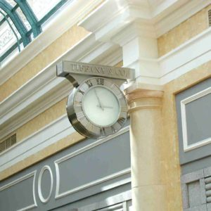 Tiffany Las Vegas Custom Double-Sided Clock