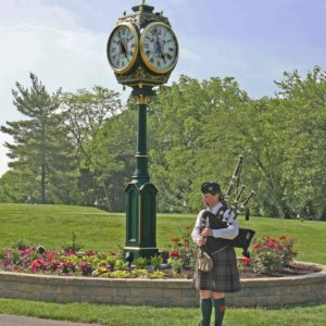 Golf Course Street Clock