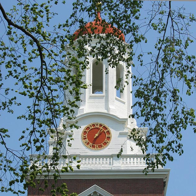 Clock installed on Harvard University Dunster Hall