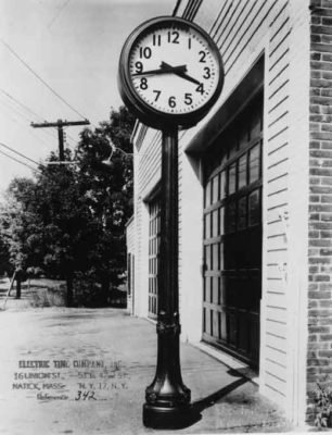 Street Clock Two Dial Historical
