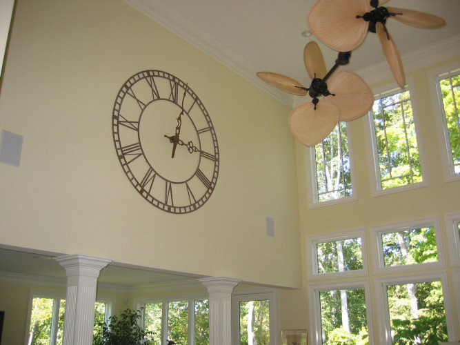 Silhouette Tower Clock Style 1072 Indoors Overlay