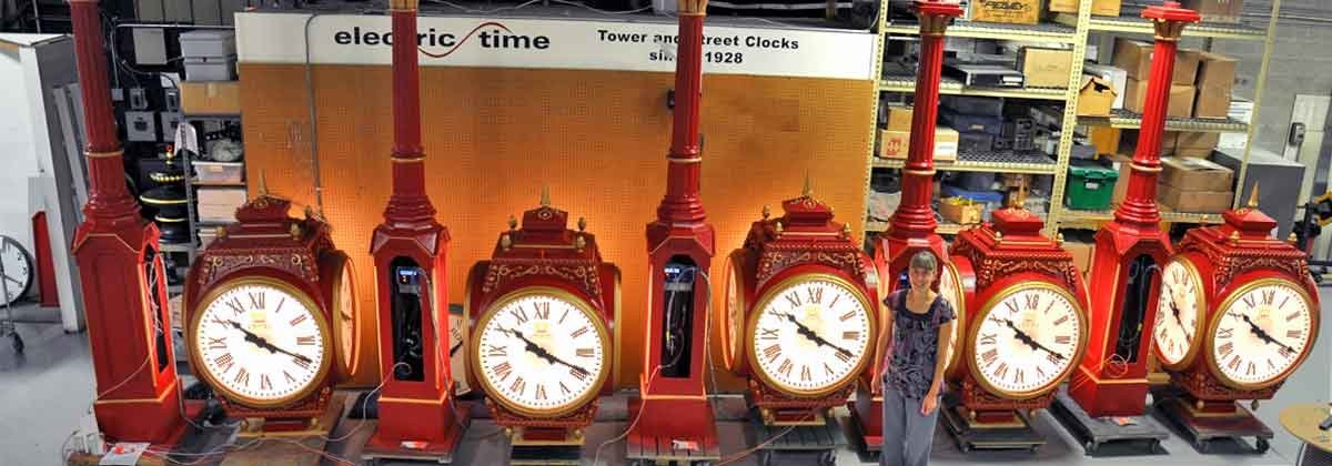 Multiple Street Clocks