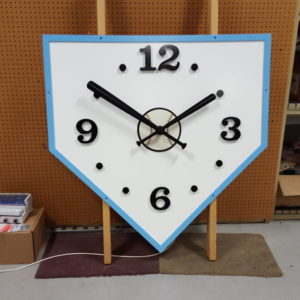 Baseball Diamond Clock
