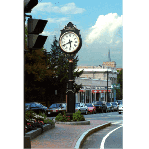 Two Dial Large Howard Street Clock Replica Norwood MA - Howard Replica 4K