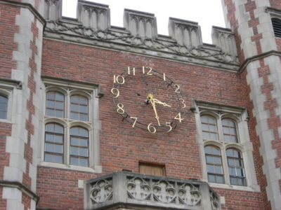 Silhouette Tower Clock Style 10120 Trinity College