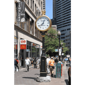 Large Two Dial Pocketwatch Street Clock Boston MA