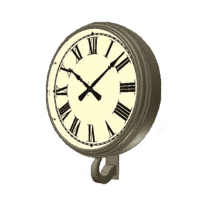 Bracket Clock Single Dial Gooseneck Rendering