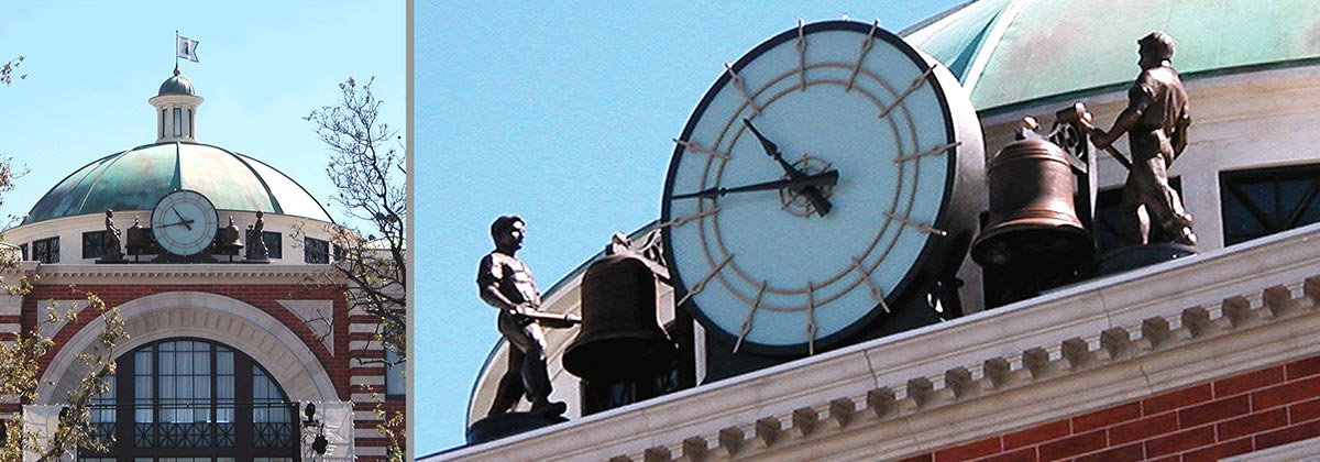 Clock and Moving Statues - The Grove at Farmer's Market