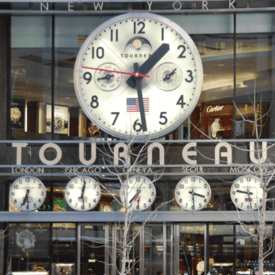 Tower Clocks Tourneau Time Machine NYC