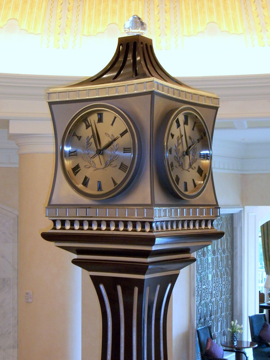 About Electric Time Company Building A Synchronous Clock Waldorf Lobby Orlando Florida Usa